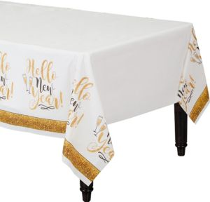 Gold Glitter New Year's Table Cover