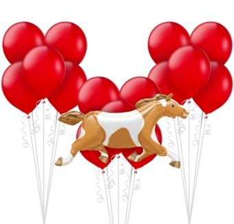 Red Horse Racing Balloon Kit