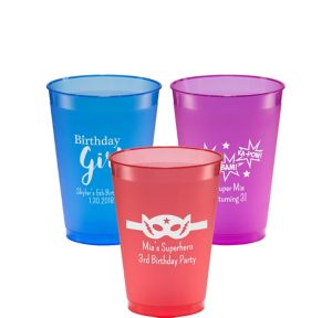 Personalized Girls Birthday Plastic Shatterproof Cups 12oz
