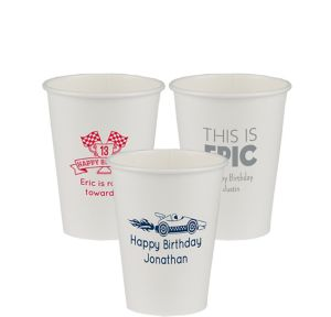 Personalized Boys Birthday Paper Cups 12oz
