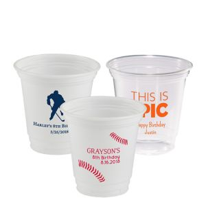 Personalized Boys Birthday Plastic Party Cups 12oz