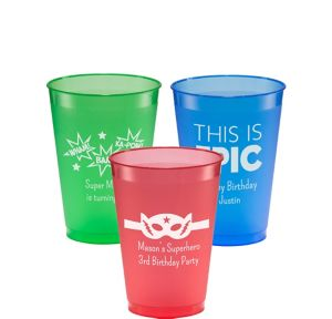 Personalized Boys Birthday Plastic Shatterproof Cups 12oz