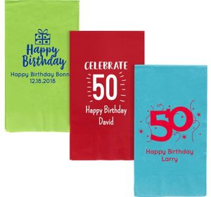 Personalized Milestone Birthday Guest Towels