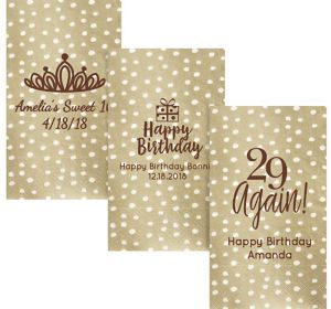 Personalized Milestone Birthday Small Dots Guest Towels