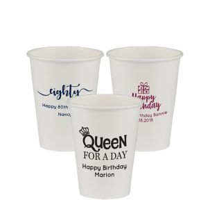 Personalized Milestone Birthday Paper Cups 12oz