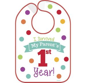 Surviving Parent's 1st Year Birthday Bib