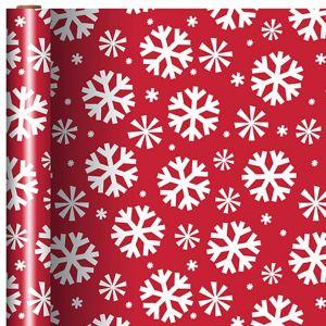 Red & White Snowflake Gift Wrap