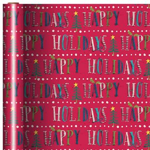 Happy Holidays Gift Wrap