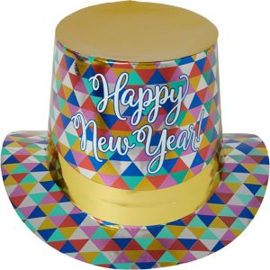 Metallic Colorful New Year Top Hat