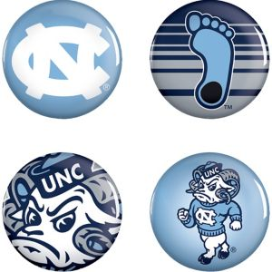 North Carolina Tar Heels Buttons 4ct