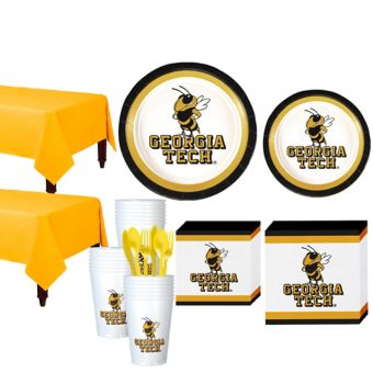 Georgia Tech Yellow Jackets Basic Party Kit for 40 Guests