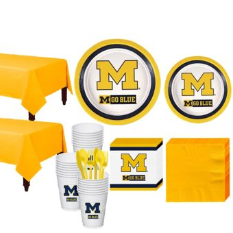 Michigan Wolverines Basic Party Kit for 40 Guests