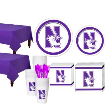 Northwestern Wildcats Basic Party Kit for 40 Guests