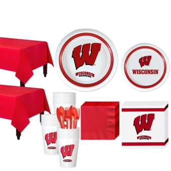 Wisconsin Badgers Basic Party Kit for 40 Guests