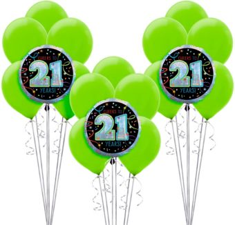 Brilliant 21st Birthday Balloon Kit