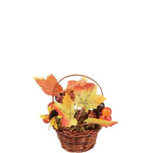 Mini Apple Wicker Basket Decoration