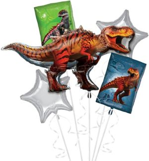 T-Rex Balloon Bouquet 5pc - Jurassic World