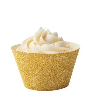 Wilton Glitter Gold Cupcake Wrappers 24ct