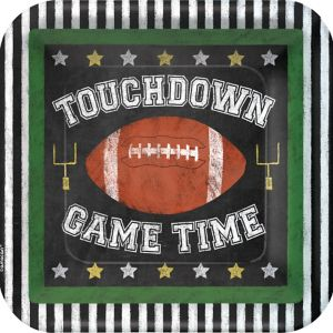 Football Game Time Lunch Plates 18ct
