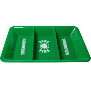 Football Game Time Divided Snack Tray