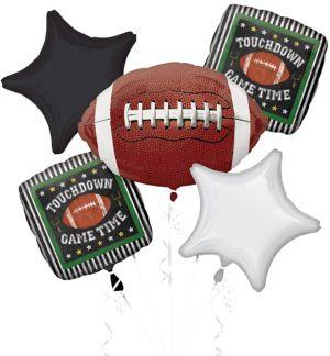Football Game Time Balloon Bouquet 5pc