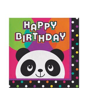 Panda Birthday Lunch Napkins 16ct