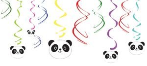 Panda Swirl Decorations 5ct