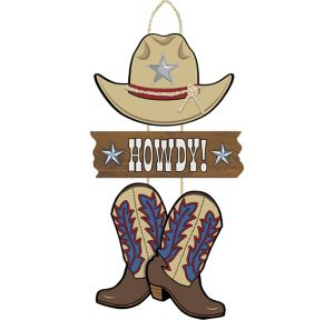 Yeehaw Western Howdy Stacked Sign