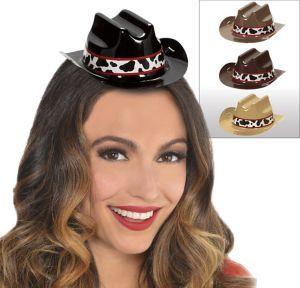 Western Mini Cowboy Hats 8ct
