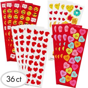 Valentine's Day Stickers 36 Sheets