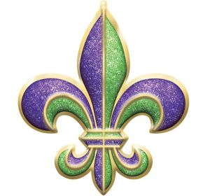 Giant Glitter Fleur-de-Lis Sign