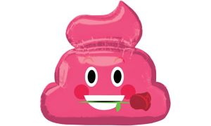 Pink Poop Icon Balloon