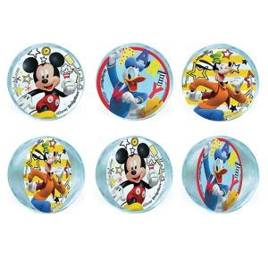 Mickey Mouse Bounce Balls 6ct