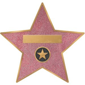 Hollywood Star Decals 8ct