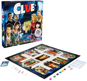 Clue Board Game with New Suspect