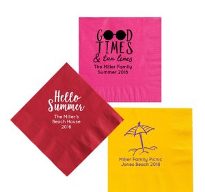 Personalized Summer Lunch Napkins