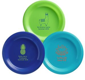Personalized Summer Plastic Dinner Plates
