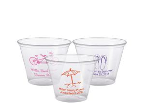 Personalized Summer Plastic Party Cups 9oz