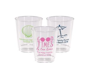 Personalized Summer Hard Plastic Cups 8oz