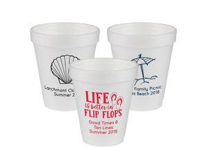Personalized Summer Foam Cups 6oz