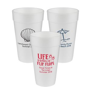 Personalized Summer Foam Cups 20oz