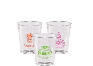 Personalized Luau Hard Plastic Shot Glasses 2oz