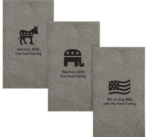 Personalized 4th of July Tweed Print Guest Towels