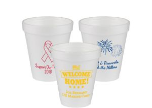 Personalized 4th of July Foam Cups 6oz