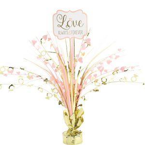 Sparkling Pink Wedding Spray Centerpiece