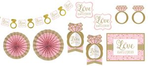 Sparkling Pink Wedding Room Decorating Kit 10pc
