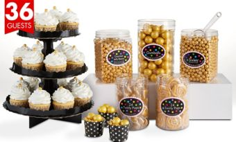 Gold Sweets & Treats Kit for 36 Guests