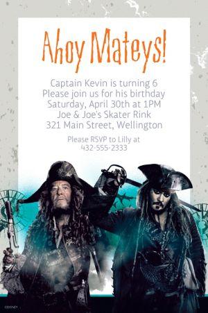 Custom Pirates of the Caribbean Invitation