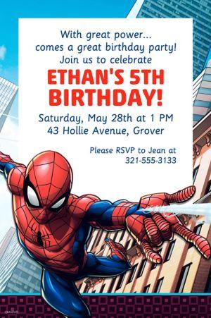 Custom Webbed Wonder Spider-Man Invitation