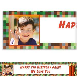 Custom Pixelated Photo Banner